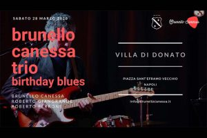 18 giugno 2020: Brunello Canessa Trio