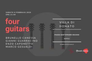 "8 febbraio 2020: ""Four Guitars"" - Brunello Canessa"