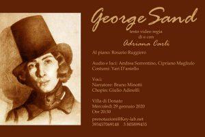 29 gennaio 2020: George Sand. Di e con Adriana Carli.